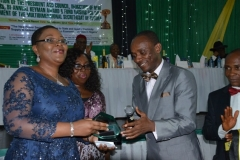 Ceremony marking the Keyman Award issued to Techno Oil by the Enugu Chamber of Commerce & Industry in 2014