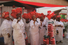Free distribution of TechnoGas cookstoves to Market women during the launch of TechnoGas cookstoves at Oyingbo, Lagos